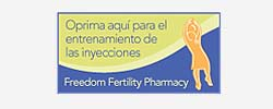 fertility medication injection instructions in Spanish