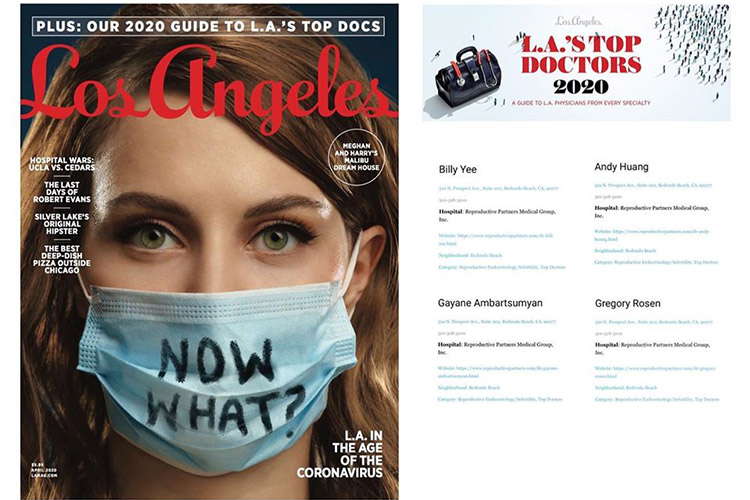 RPMG Named Top Doctors in Los Angeles Magazine